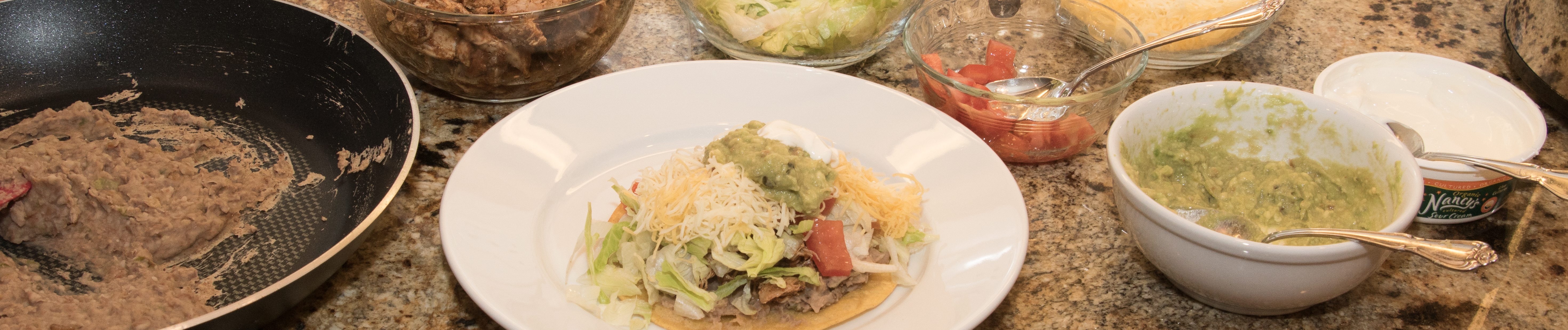 Chicken tostadas banner photo