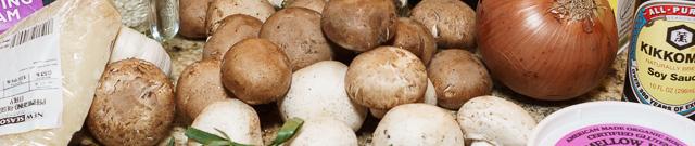 Mushroom risotto banner photo