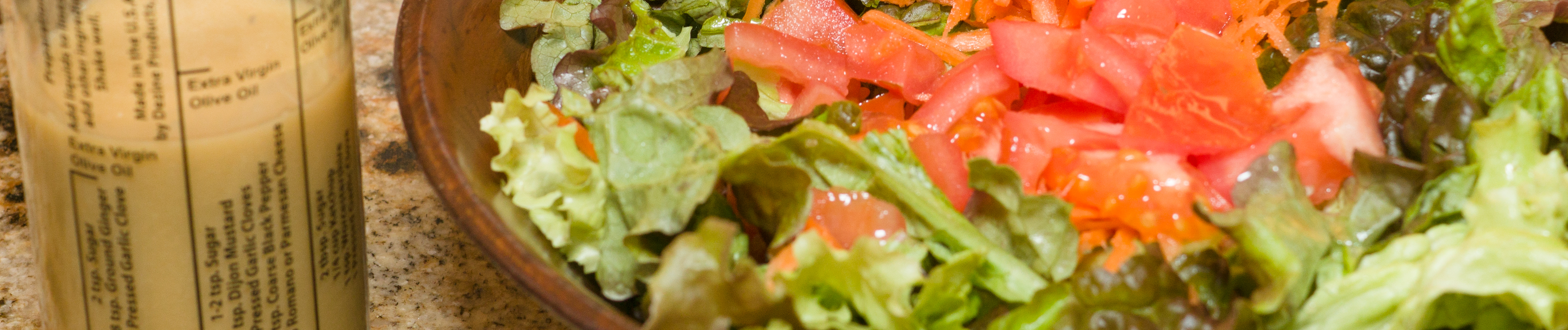 Miso-ginger salad dressing banner photo