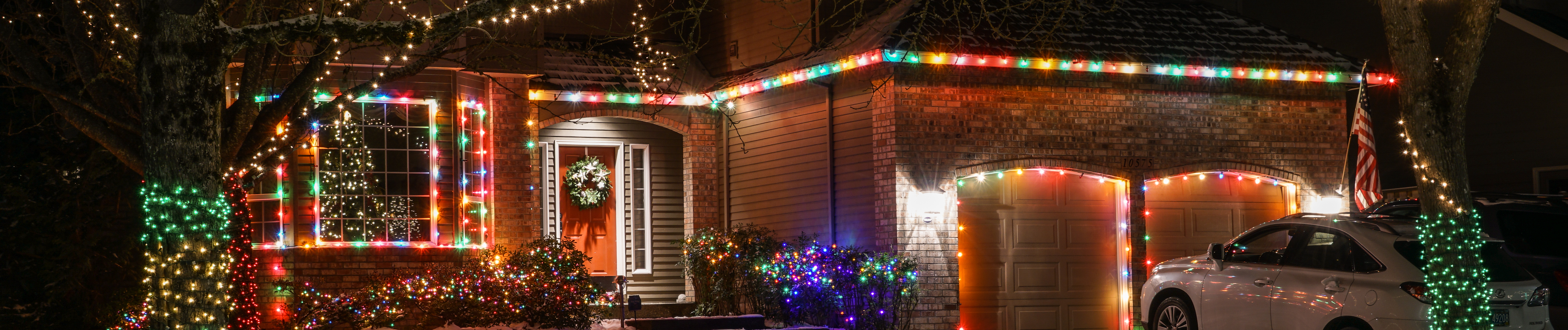 Christmas lights in the neighborhood - Banner Photo