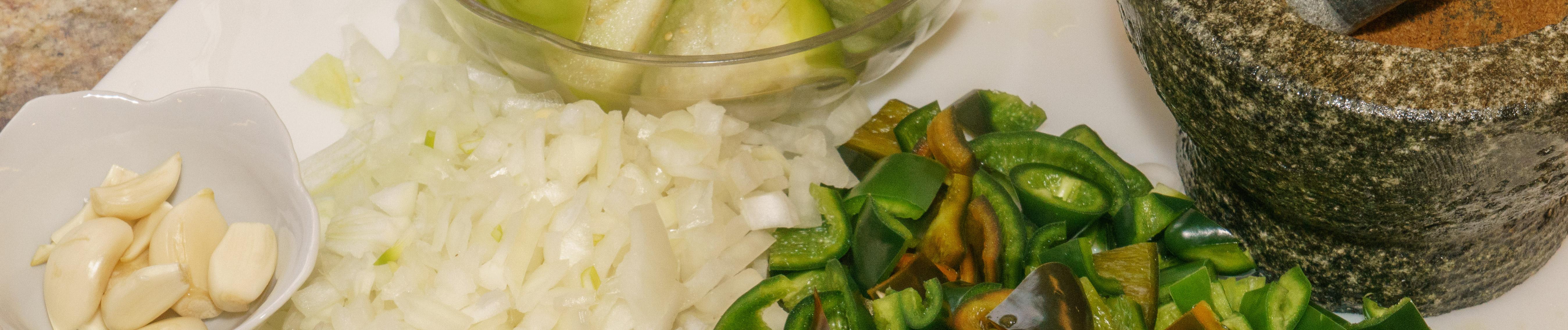 Chicken chili verde banner photo